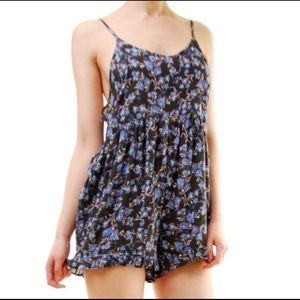 Free People Floral Pretty Baby Romper